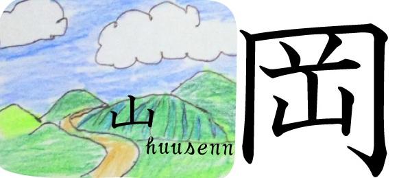 漢字の覚え方 岡: 風船あられの...