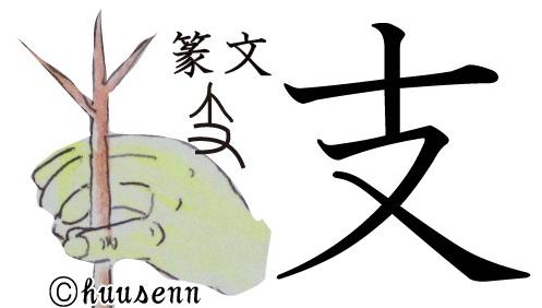 漢字の覚え方 支: 風船あられの...