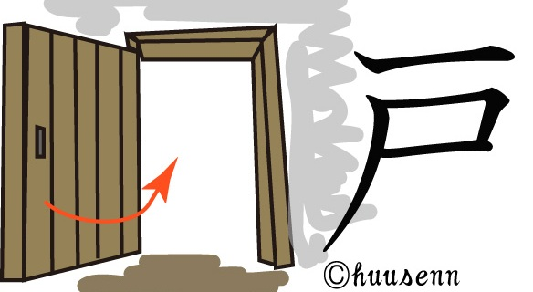 漢字の覚え方 戸: 風船あられの...