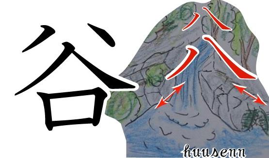 漢字の覚え方 谷: 風船あられの...